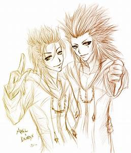 Axel + Demyx by Yume-Rie on DeviantArt