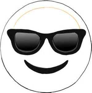 Emoji with Sunglasses Coloring Pages