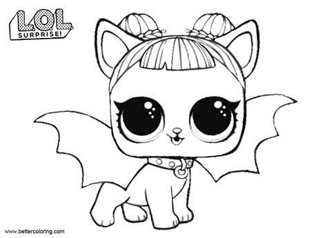 midnight pup  lol pets coloring pages  printable