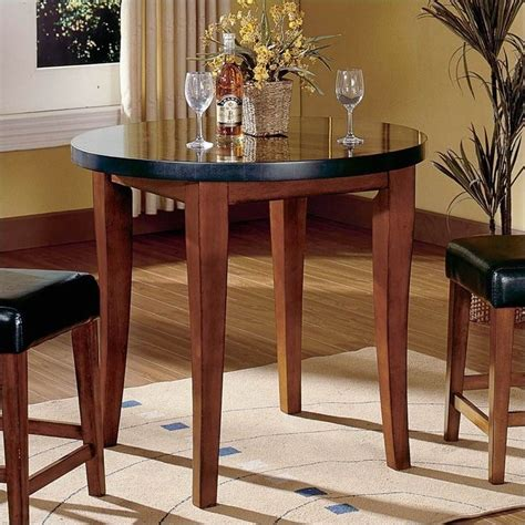 granite counter height table steve silver company bello round granite counter height