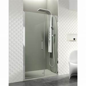 paroi de douche porte battante helia e robinet and co With porte battante de douche