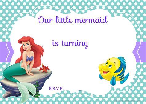 free mermaid invitation templates updated free printable ariel the mermaid invitation template free invitation templates
