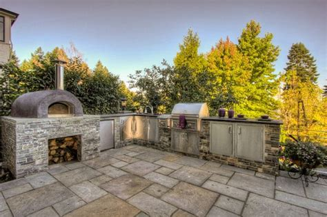 outdoor kitchen designs with pizza oven outdoor kitchen designs featuring pizza ovens fireplaces 9023