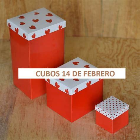 cubos 14 de febrero caja de regalo paq con 30 pzas 650 00 en mercado libre