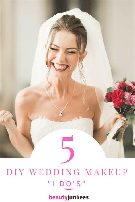 5 diy wedding day makeup i do s