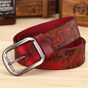 Designer Cowboy Belt 2017 New Arrival Genuine Leather Belt Women Cowgirl