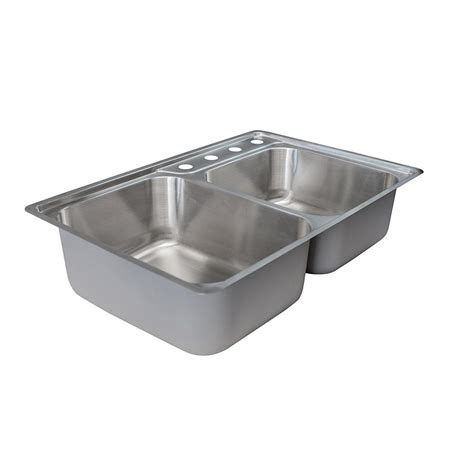 34 stainless steel kitchen sink franke evolution drop in stainless steel 34 in 4 hole