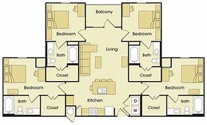 four bedroom floor plan avalon place apartments With four bed room site plan