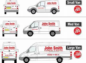 Vehicle graphics from blackpool signs and graphics ltd for Van lettering cost