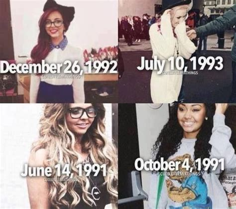 Little Mix Me and Jade have the same birthday month ...