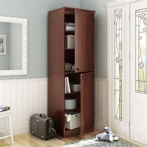 South Shore Narrow Storage Cabinet by South Shore Narrow Royal Cherry Storage Cabinet Ebay