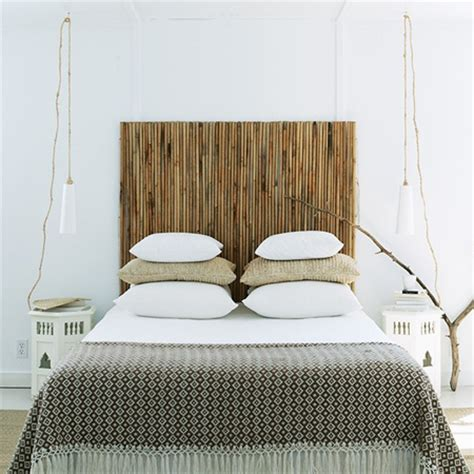 home dzine bedrooms quick and easy bamboo headboard
