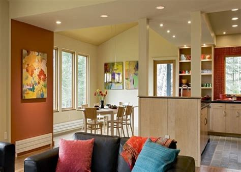 kitchen accent wall ideas painting benjamin spiced pumpkin accent wall