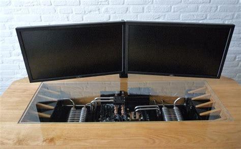fabriquer un bureau informatique déco bureau en bois