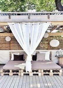 Lit Exterieur Jardin : fabriquer un sommier top exceptional construire un lit en ~ Teatrodelosmanantiales.com Idées de Décoration