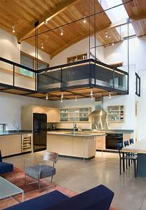 Modern, Industrial, Suburban, House, In, Seattle, With, Curved