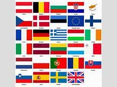 Alle Vlaggen Van De Landen Van De Europese Unie Vector