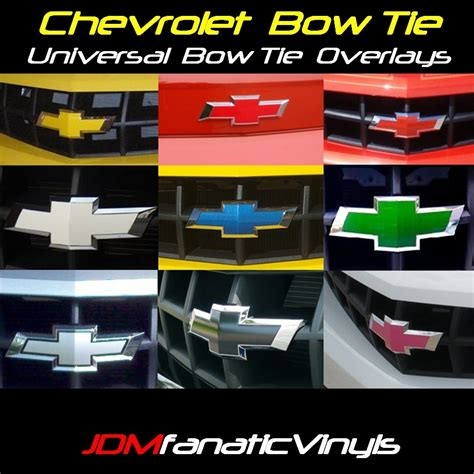 chevy bowtie colors chevrolet bow tie emblem front rear overlays