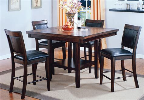 fulton counter height dining table and 4 side chairs