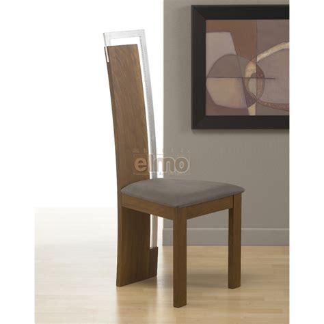 chaise à manger chaise salle à manger design moderne bois massif et chrome