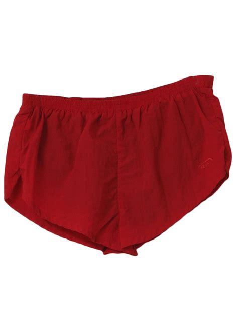 rrs shorts  rrs mens red nylon elastic waist