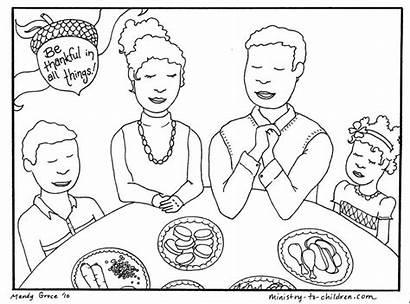 Coloring Thanksgiving Dinner Children God Printable Sheet