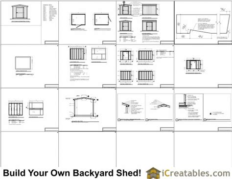 8x8 shed plans materials list free 8x10 shed plans icreatables
