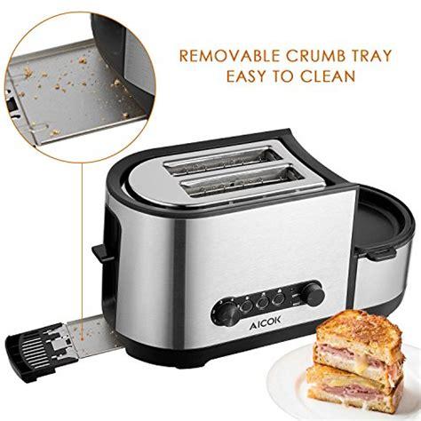 toaster und eierkocher aicok automatik toaster 3 in 1 toaster mit eierkocher spiegelei mit defrost funktion und