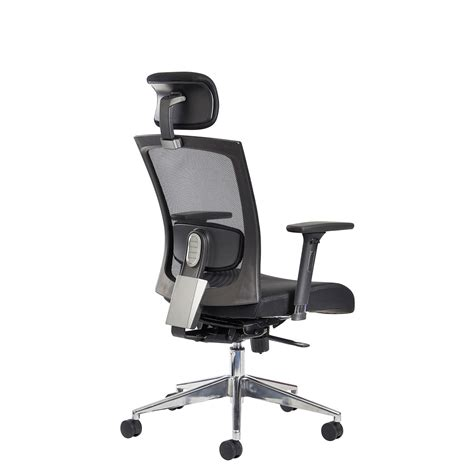 reclining salon chair with headrest uk gemini 300 series mesh task chair with adjustable arms and