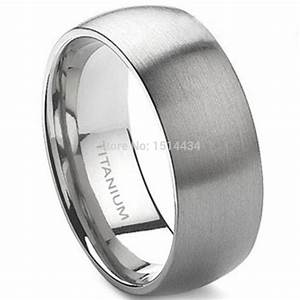 8mm men size 7 15 classic brushed pure titanium wedding With mens size 15 wedding rings