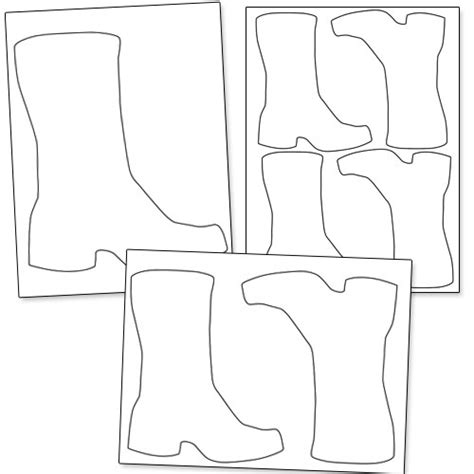 boot template printable boot template printable treats