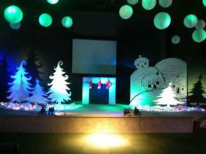 Stage Grinch Christmas Decorations Trees Simple Decor
