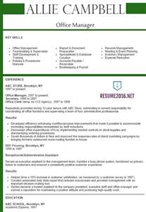 resume for office manager office manager resume 2016 best sles