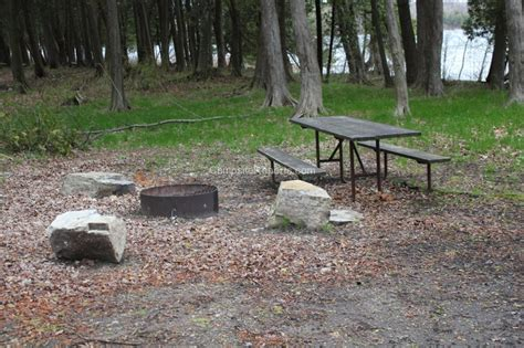 Picture Of Campsite 848 At Peninsula State Park, Wisconsin