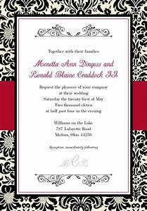 Black and red wedding invitations template best template for Free printable red and black wedding invitations