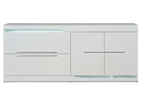 soldes canape buffet 2 tiroirs 2 portes ovio coloris blanc laqué