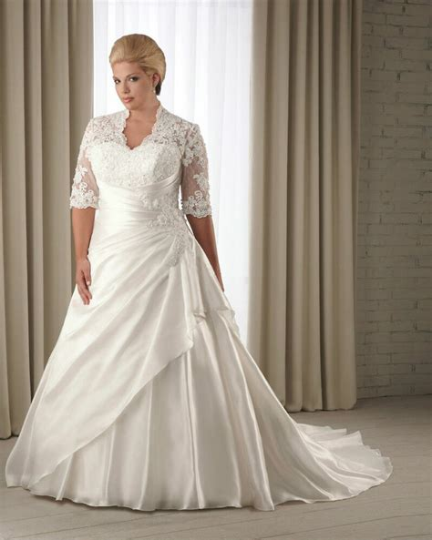 half sleeve wedding dress bridal gown custom plus size 14