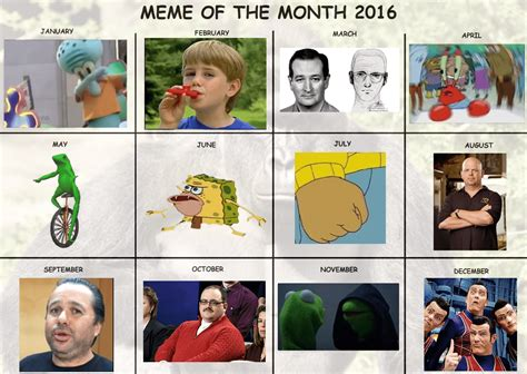 Memes Of The Month - meme of the month 2016 official calendar re revised dankmemes