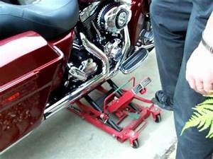 harbor freight high position motorcycle lift demonstration With how to jack up a motorcycle with a floor jack