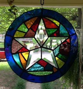 Stained Glass Suncatcher in Stunning Colors-Abstract Bevel