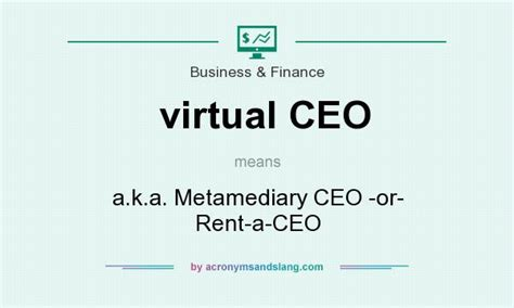 What Does Virtual Ceo Mean?  Definition Of Virtual Ceo
