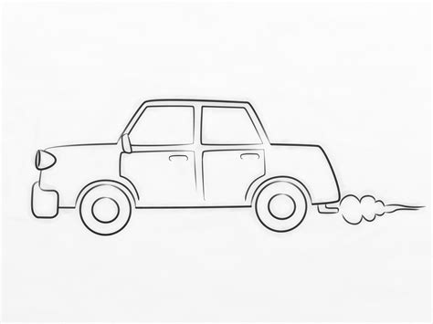 car drawing how to draw a cartoon car 8 steps with pictures wikihow
