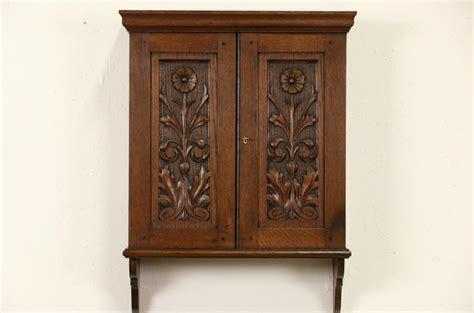 sold carved oak scandinavian  antique hanging
