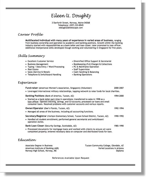 Description Of Volunteer Experience On Resume by Chapter 6 Resumes For Returning To Work With Extensive Volunteer Experience Expert