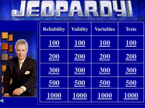 jeopardy powerpoint template beepmunk
