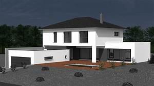 maison contemporaine toit 4 pans avie home With ordinary plan de maison cubique 19 photo de construction de maison moderne toiture zinc