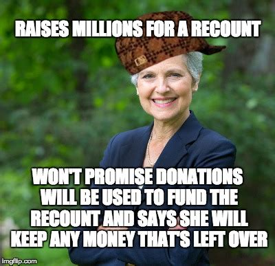 Jill Meme - said she has no proof the original counts were inaccurate won t promise to use the for a
