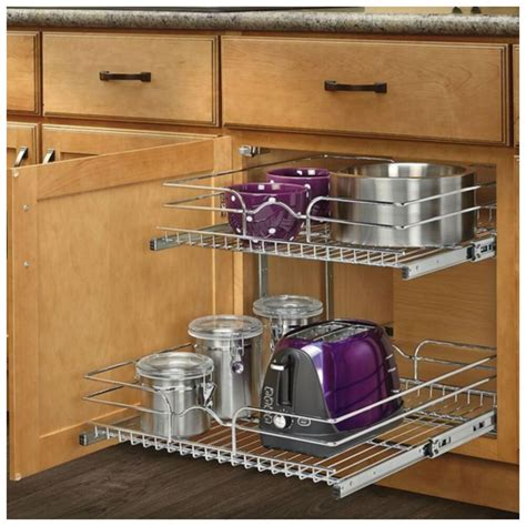 Kitchen Cabinet Storage Organizers Uk by Pull Out Sliding Metal Kitchen Pot Cabinet Storage
