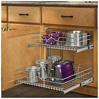 kitchen cabinet organizer Pull Out Sliding Metal Kitchen Pot Cabinet Storage ...