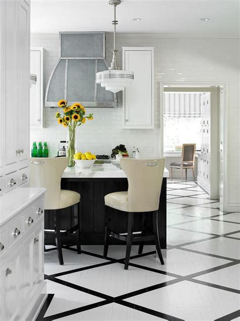 kitchen black floor black and white painted kitchen floor transitional kitchen 2318